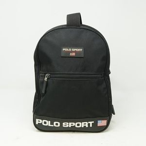 Vintage Polo Sport One Strap Backpack Spell Out